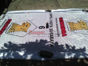 produsen bendera caleg partai politik Gerindra