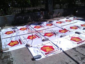 produsen bendera partai politik Gerindra