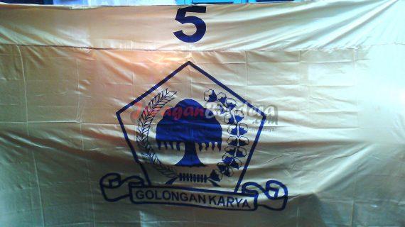 pesan bendera partai politik golkar