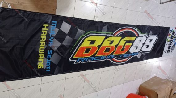 Cetak Umbul umbul Custom BBG Racing Team